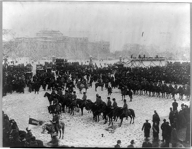 Troop A, Ohio National Guard on Capitol ground during Taft inauguration, Mar. 4, 1909