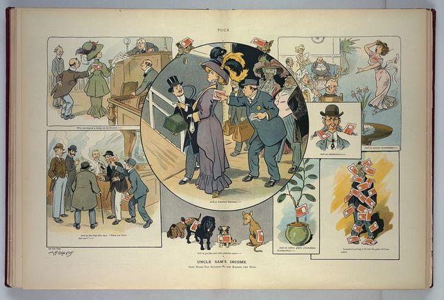 Uncle Sam's income / L.M. Glackens.