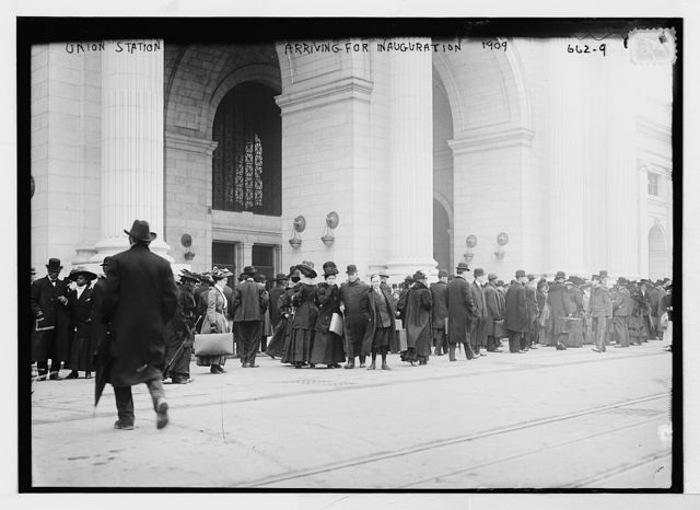 Union Station, crowd arriving for Inauguration, Washington, D.C