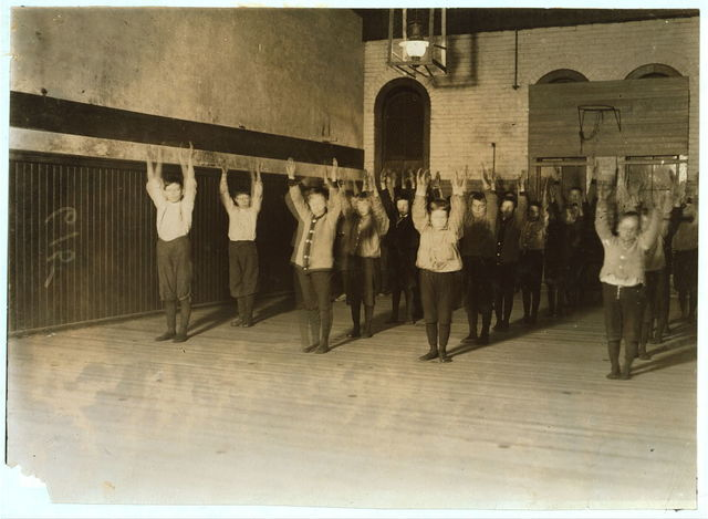 United Workers Boy's Club, New Haven, Conn. In the gymnasium.  Location: New Haven, Connecticut.