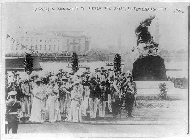 Unveiling monument to Peter the Great, St. Petersburg