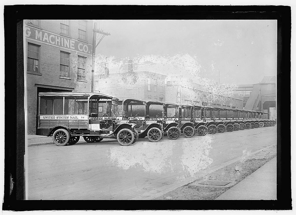 U.S. Mail trucks