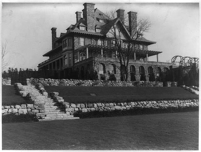 West front of house of John D. Rockefeller