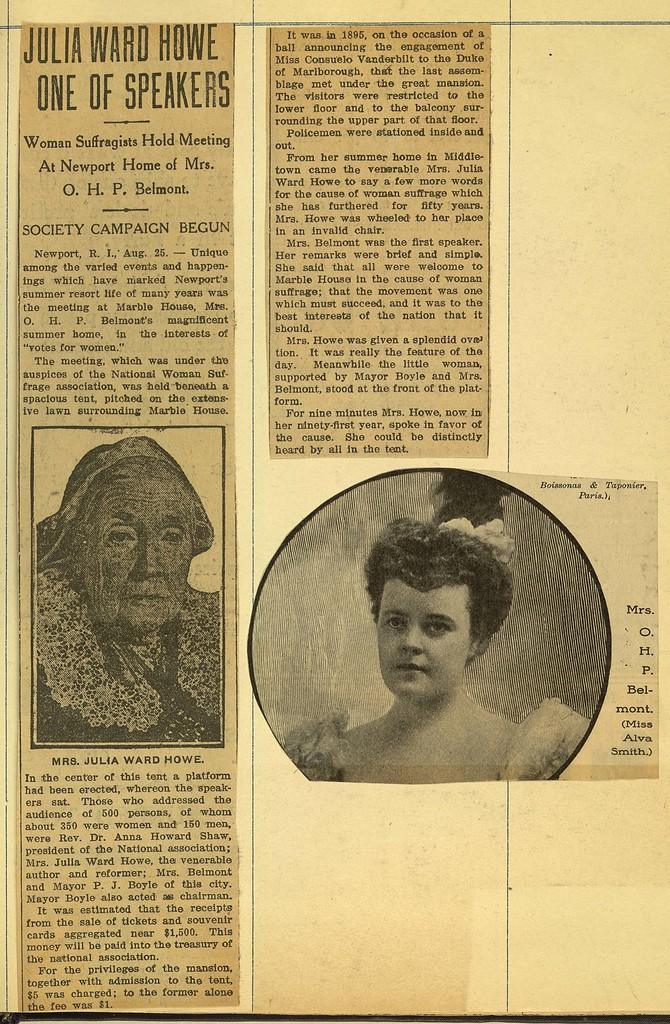 Woman Suffragists Hold Meetings at Newport Home of Mrs. O.H.P Belmont