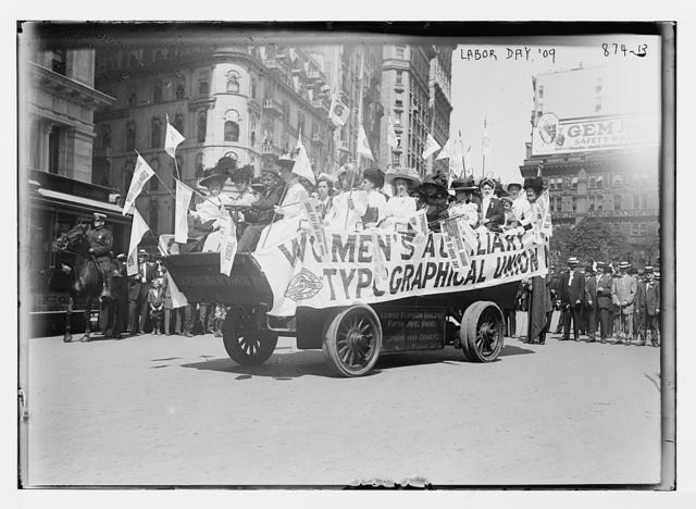 Women's Auxiliary Typographical Union float, Labor Parade, New York
