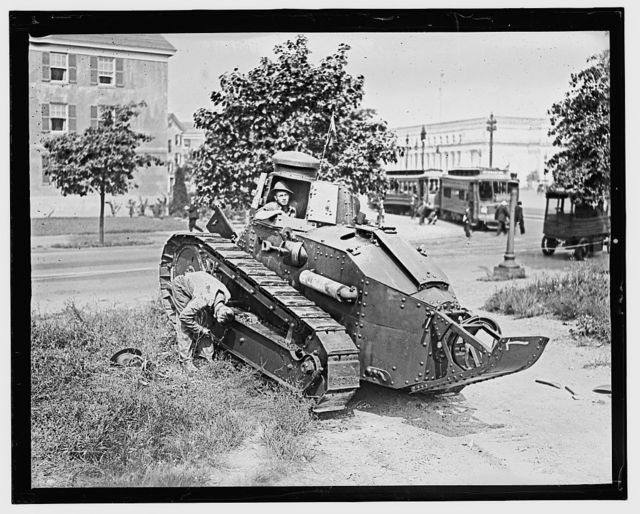 World War I tank, Wash. D.C.