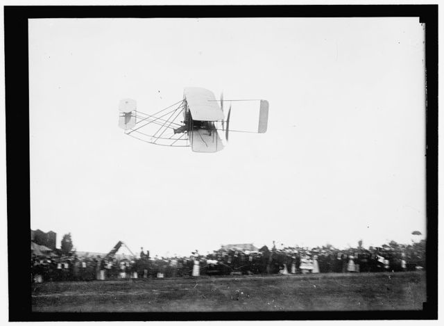 WRIGHT BROTHERS AIRPLANE, ETC. TYPE A PLANE AT FORT MYER