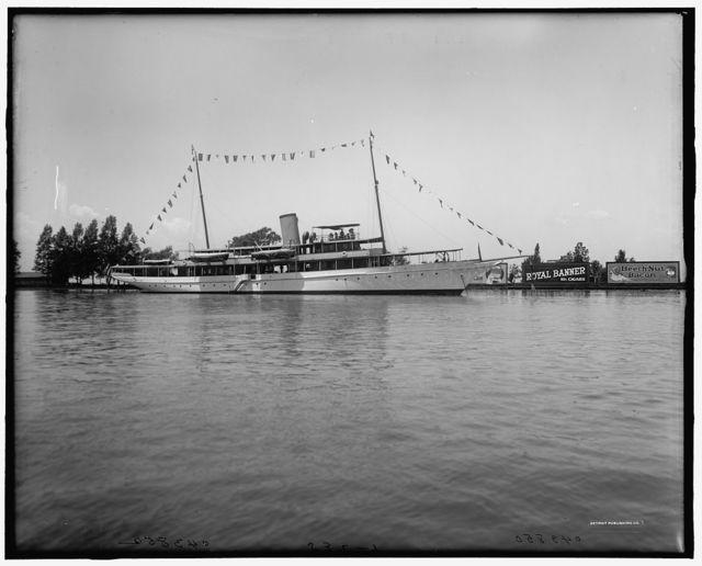 [Yacht Caroline of Toledo, St. Clair Flats, Mich.]