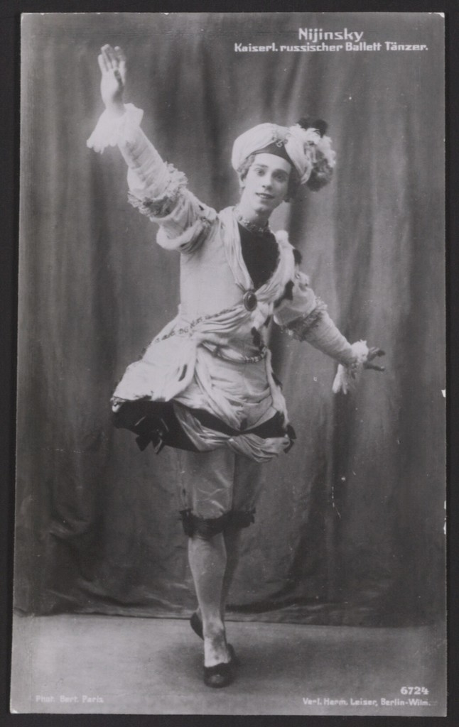 Photograph of Vaslav Nijinsky in Pavillon d'Armide, 1909, no photographer