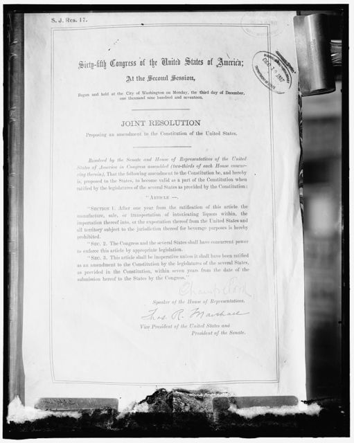 18th Amendment of the Constitution
