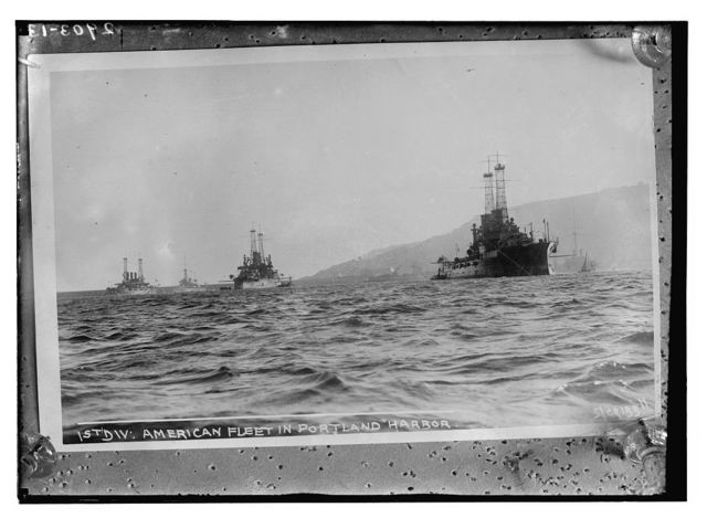 1st Div.: American Fleet in Portland Harbor
