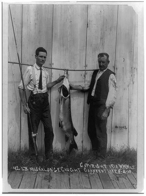42 lb. muskalonge caught in Conneaut Lake 8-2-10