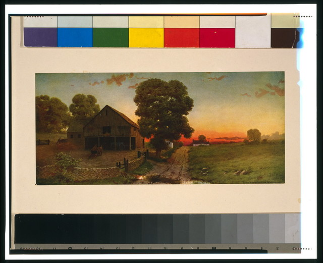 A New Hampshire sunset / from painting by E. Lamasure.