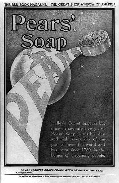 [Advertisement for Pears' Soap illustrated with Halley's Comet]