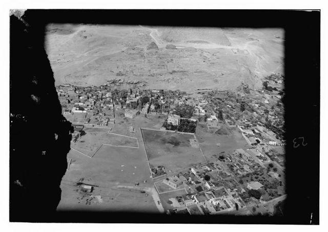 Aerial photos, Sea of Galilee & Jerus. [i.e., Jerusalem], Jordan R. [i.e., River], Amman
