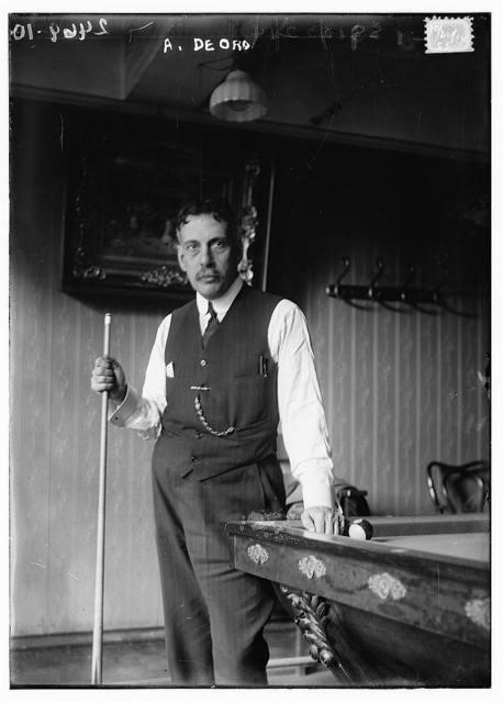 [Alfredo De Oro, Cuban billiards player]
