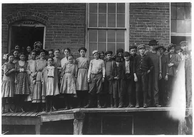 All these are workers in the Sweetwater Hosiery Co., except smallest boy in the middle and he is a representative of many (even smaller) in mills of this region.  Location: Sweetwater, Tennessee.