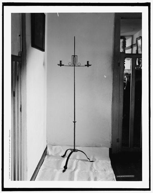 An Antique candlestick at Mt. Vernon