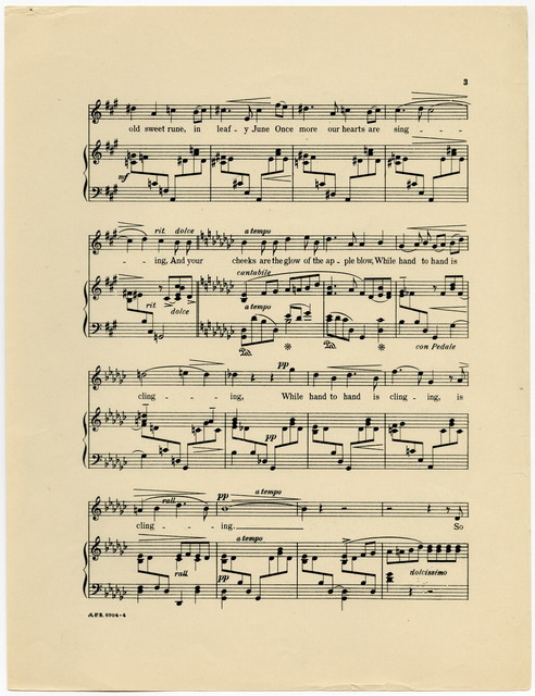 An  Old Love-Story, Op. 71, No. 3.