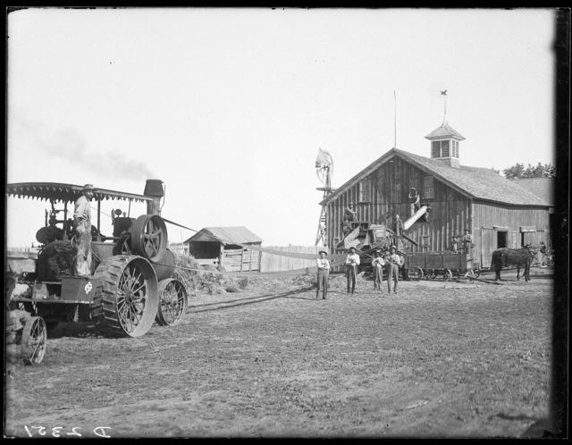 Applegate barn and engine, south of Gibbon, Buffalo County, Nebraska.