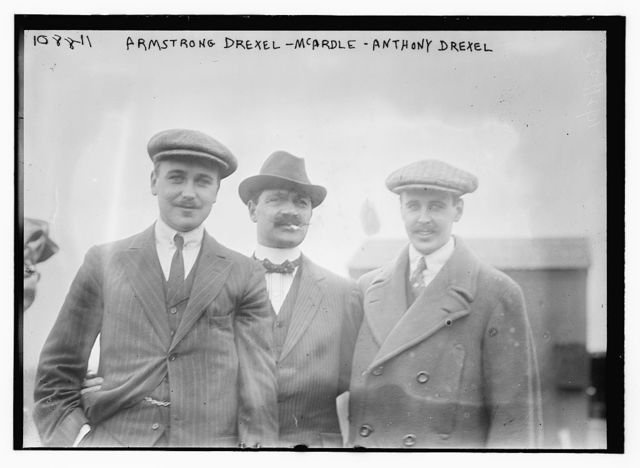 Armstrong Drexel, McArdle, and Anthony Drexel, standing together outside