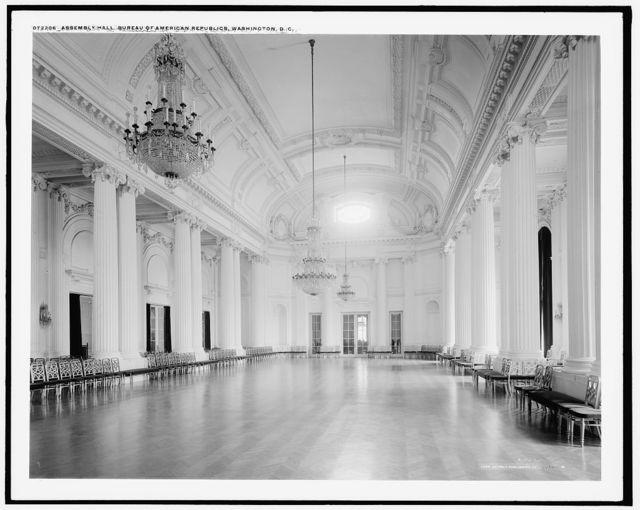 Assembly hall, Bureau of American Republics [Pan American Union Building], Washington, D.C.