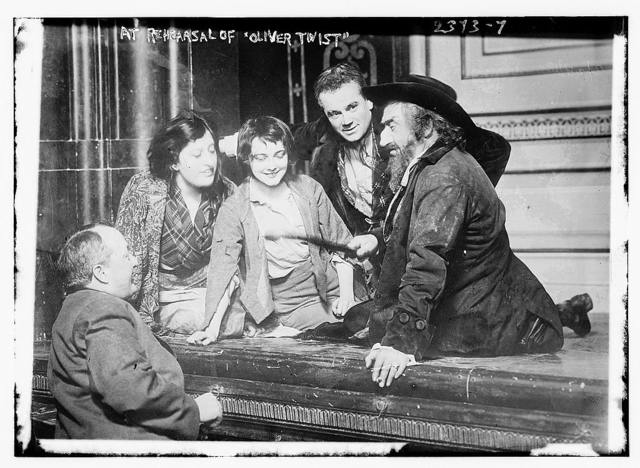 At rehearsal of OLIVER TWIST