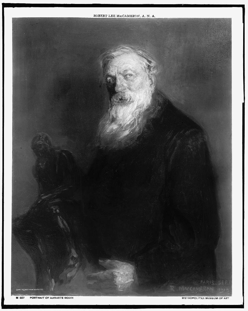 [Auguste Rodin, half-length portrait]