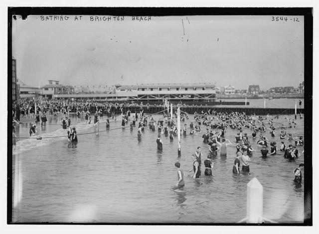 Bathing at Brighton Beach