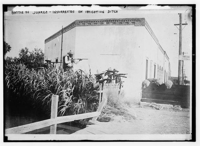 Battle of Juarez, Insurrectos on irrigation ditch
