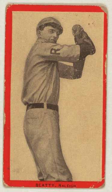[Beatty, Raleigh Team, baseball card portrait]