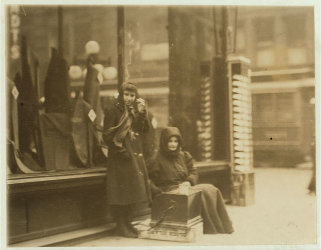 Beggar girl who sings and begs downtown day and night. May 7th, 1910. Witness E.N. Clopper.  Location: St. Louis, Missouri.