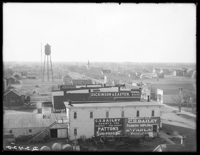 Bird's-eye view of Shelton, Nebraska.