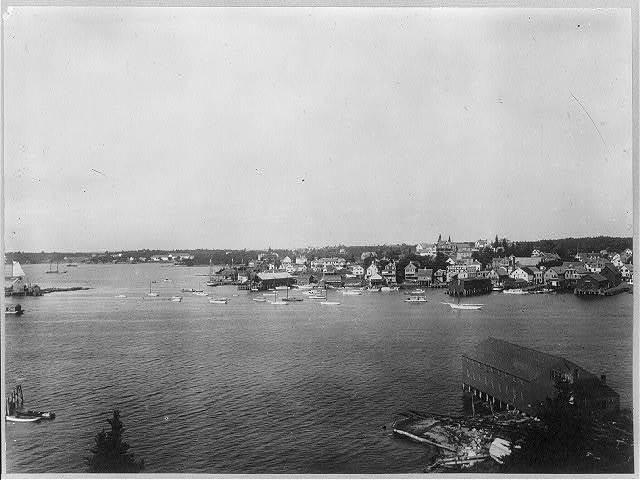 Bird's-eye views of Boothbay Harbor, Maine