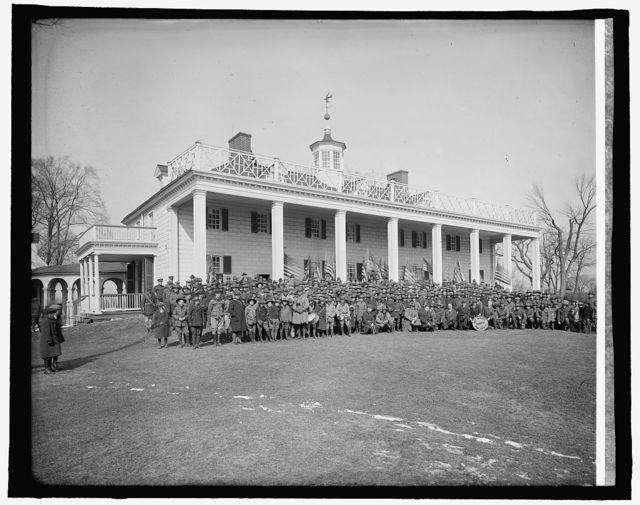 Boy Scouts at Mt. Vernon, [Virginia]