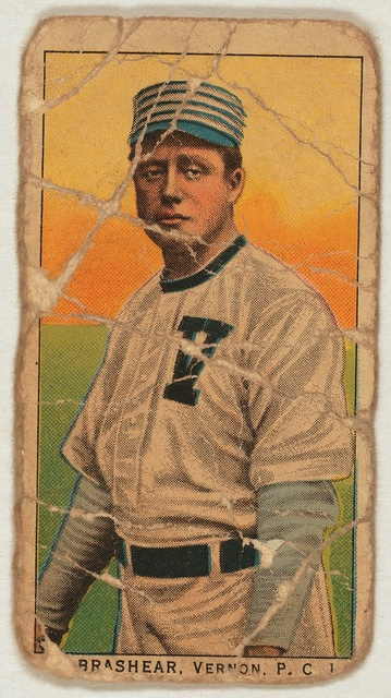 [Brashear, Vernon Team, baseball card portrait]