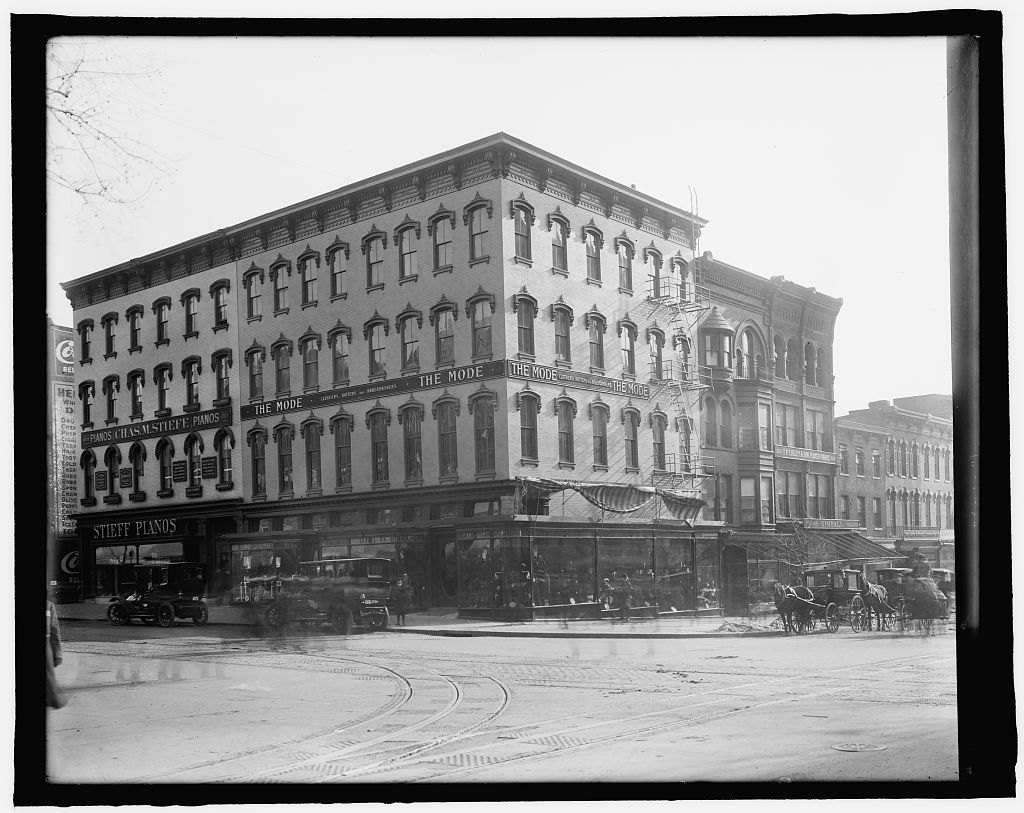 [Buildings: Stieff Pianos and The Mode, 11th and F Streets, N.W., Washington, D.C.]