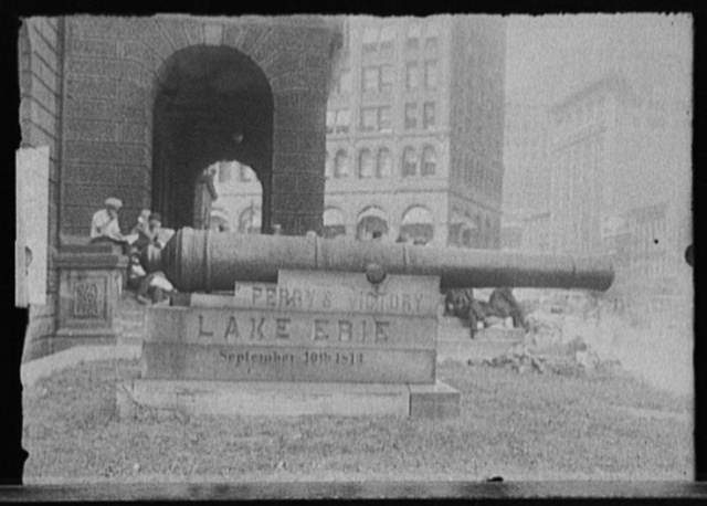 [Cannon commemorating Perry's victory, Battle of Lake Erie, probably Ohio]