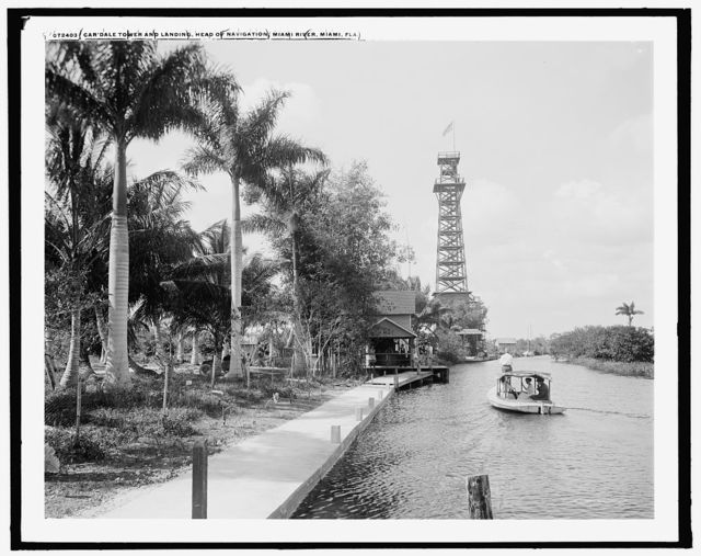 Car Dale Tower and landing, head of navigation, MiamiRiver, Miami, Fla.