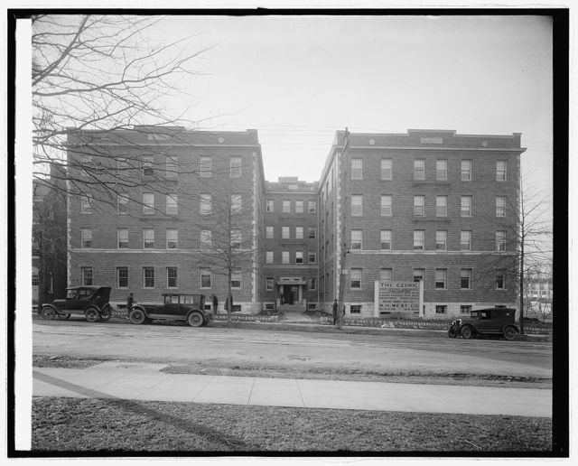 Cedric apartments, W.H. West Co., [Washington, D.C.]