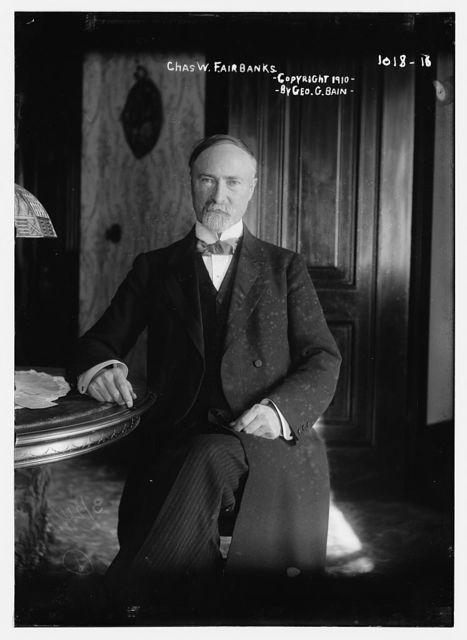 Chas. W. Fairbanks seated