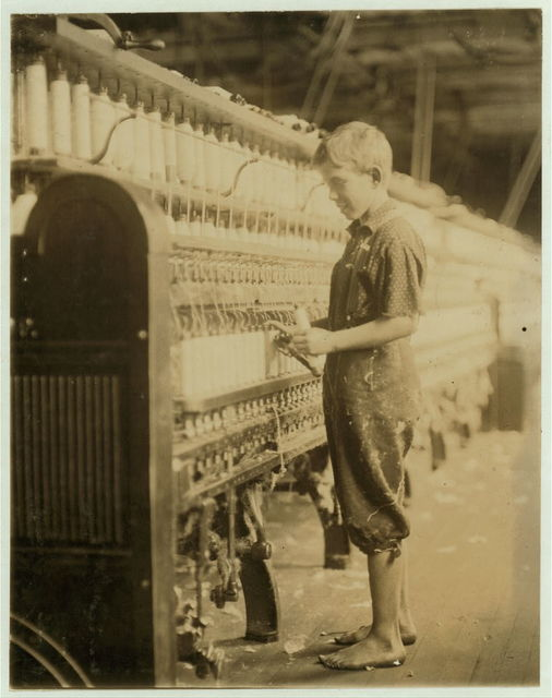 Clarence Wool, 11 years. Spinner in North Normal [i.e., Pownal?] Cotton Mill. Worked only during vacation. Edward F. Brown.  Location: No[rth] Pownal, Vermont.