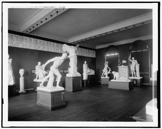 Classical sculpture gallery, Worcester Art Museum