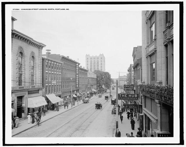 Congress Street, looking north, Portland, Me.