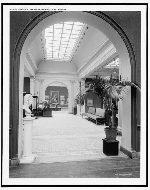 Corridor, 3rd floor, Worcester Art Museum