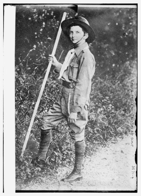 Crown Prince of Italy as Boy Scout