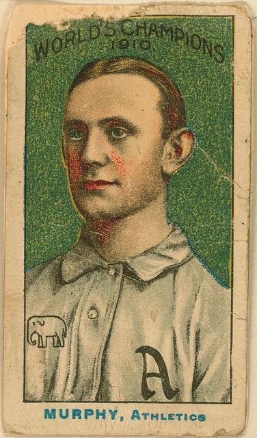 [Danny Murphy, Philadelphia Athletics, baseball card portrait]