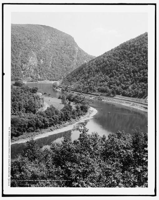 Delaware Water Gap, from Prospect Rock, Pa.