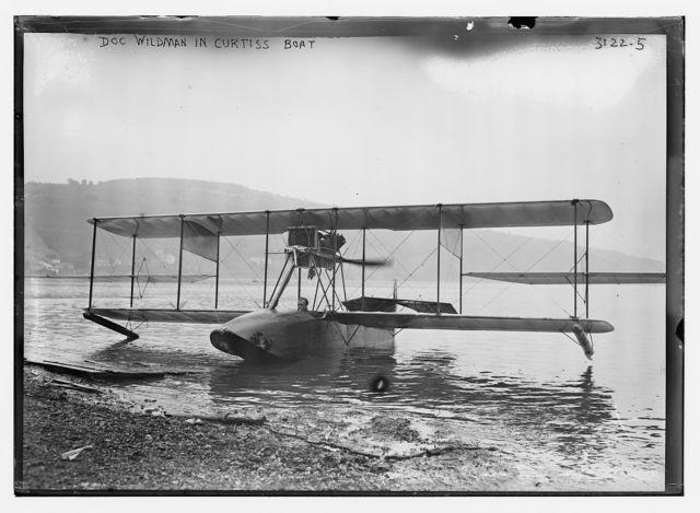 Doc Wildman in Curtiss Boat