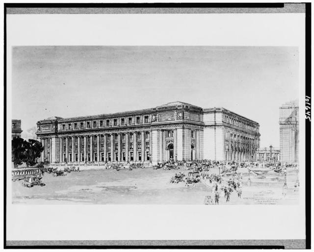 [Drawing of Post Office, Washington, D.C.]